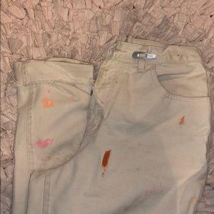 Denim - Scuffed high waisted jeans